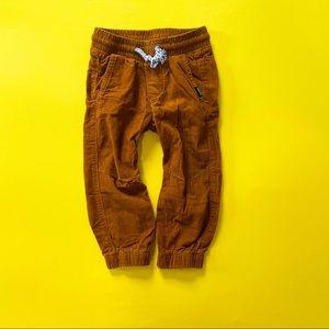 Brown Corduroy Drawstring Pants